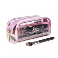China Transparent PVC Cosmetic Bag Lovely Makeup Pouch Organizer With Multi Pockets wholesale