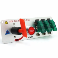 China LeaningTech LTC Racing Car 12V LED Toggle Ignition Switch Panel Engine Start Push Button Carbon wholesale