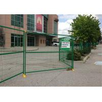 "China 8' Height x 10' Width Canada standard Temporary Construction Fencing Panels Tubing 1.6""/40mm Brace 1""/25mm wholesale"