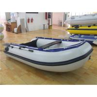 China Portable Double Small Blow Up Boat , Rigid Bottom Inflatable River Boats wholesale
