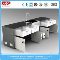 China Commercial Wood Laboratory Wall Bench Movable High Acid Resistance wholesale