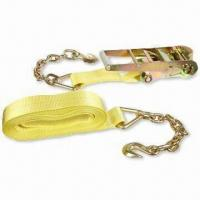 China 3-inch x 27-feet Marine Ratchet Strap with Chain Extension wholesale