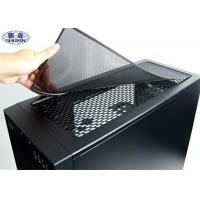 China Powder Coated Computer Case Dust Filter SX-SFM01 Black Cover Mesh Screen wholesale