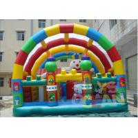 China Colorful Disney Land Inflatable Playground Durable Waterproof With Roof wholesale
