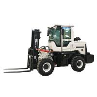 China Small Port Handling Equipments  ,  4wd 3 To 5 Ton Off - Road Hydraulic Forklift Truck Diesel Machines on sale