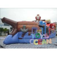 China Super Pirate Ship Bouncy Inflatable Playground For Amusement Equipment wholesale