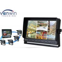 Wholesale 4 CH High Resolution TFT Car Monitor DC12V / DC 24V LCD Quad Video Screen from china suppliers