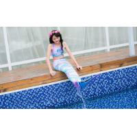China Colorful Unicorn Mermaid Tails For Swimming With Flower Monofin Fade - Resistant on sale
