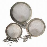 China Stainless Steel Tea Ball Mesh Infusers with Chain, Strainer and Filter on sale