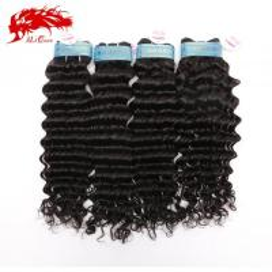 China Ali Queen 4pcs Peruvian Deep Wave Hair Extensions Queen Virgin Human Hair Weaves Free Shipping on sale