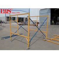 "China High Strength Durable Ladder Frame Scaffolding For Hall / Bridges 4'×6'4"" wholesale"