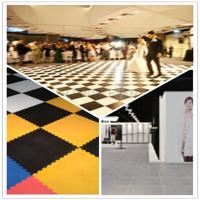 China 3W Interlocking Plastic Iinyl Dance Flooring Tiles Patterns For Exhibitions Hall wholesale