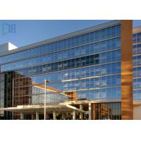 China Building Material Aluminium Curtain Wall Waterproof With Double Glazing Glass on sale