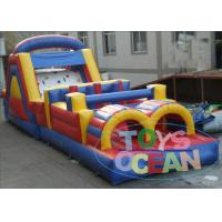 China 12M Commercial Family Inflatable Obstacle Course Team Games For Adults wholesale