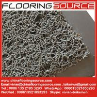 China PVC Cushion Coil Mat PVC Looped Mat Non-slip wet area mat stop dirt door mat wholesale