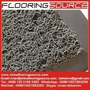 China PVC Cushion Coil Mat PVC Looped Mat Non-slip wet area mat stop dirt door mat wholesale