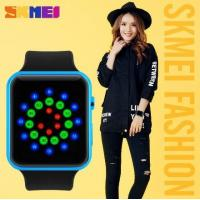 China Fashion Simple Cool Colorful Boys and Girls Led Creative Wrist Watch WR 30M PU Strap Watches 1176 wholesale