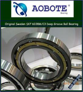 China SKF Deep Groove Ball Bearing Single Row , 6038M / C3 Bearing wholesale