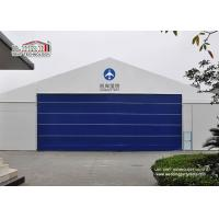 China 30x50m Aluminum Frame Helicopter Hangar Tent With Flexible PVC Roller Shutter wholesale