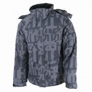 China Men's Ski Jacket, Waterproof and Breathable, Denim-look Fabric wholesale