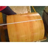 China Wood Grain Prepainted Galvanized Steel Coil , Exterior Painted Steel Coil wholesale