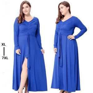 China Wholesales elegant long sleeve dress 7xl plus size clothing women wholesale