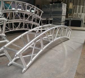 China 400*400mm Aluminum Alloy 6082-T6 Square Spigot Arch Lighting Truss / Aluminum Roof Truss wholesale