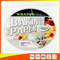 China Round Silicone Baking Paper Sheets , Greaseproof Non Stick Paper For Baking wholesale