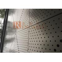 China Metal Round Holes Punched Aluminum Soffit Panels With CNC Machine wholesale