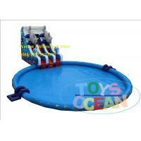 China Fashion Double Fish Slide Inflatable Water Park Huge Round Swimming Pool EN14960 wholesale