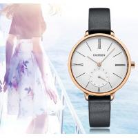 China Wholesale Retail Fashion Women Minimalist Genuine Leather Stainless Steel Quartz Wrist Watches  C6135 wholesale