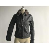 China Levis Ladies' Charcoal Pleather Jacket With Detachable Sherpa Collar LEDO1741 wholesale