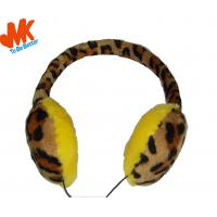 China 3.5mm Winter Warming Fur Earmuffs Stereo Headphone For video chat or online gaming wholesale