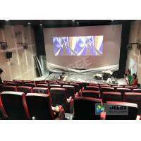 China Synthetic Leather 4D Movie Theater With Many Special Effects And Customization Logo wholesale
