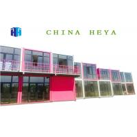 Quality Earthquake Proof Double Storey Prefab Houses Cargo Container Hotel Room Design for sale