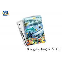 China Eco Friendly Paper 3D Lenticular Notebook Ocean / Animal Pattern With Spiral wholesale