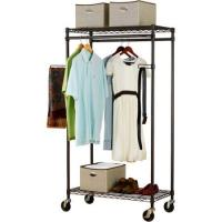 China Heavy Duty Commercial Wire Shelving , Garment Wardrobe Metal Wire Racks For Storage on sale
