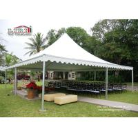 China Pop Up Aluminum Pagoda Outside Gazebo Tent With White Color Roof / Sidewall wholesale