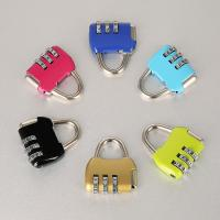 China Travel Luggage Resettable Combination Padlock 3 Numbers For Password Suitcase wholesale