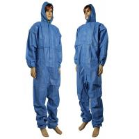 China PP + PE Film Lamination Disposable Coverall Suit / Germ Free Disposable Work Suits wholesale