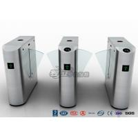 China Pedestrian Control Electronic Flap Barrier Gate Acrylic Counter Turnstiles DC24V wholesale