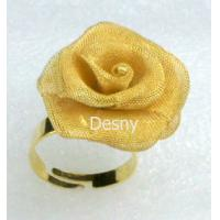 China Gold Women's Flower Western Jewelry Rings with Rhinestone for Gift wholesale