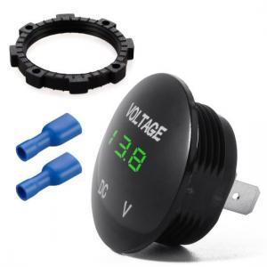 China Waterproof Voltmeter, Mini Digital Display Voltage Meter DC 12V-24V Green LED Tester for Car wholesale