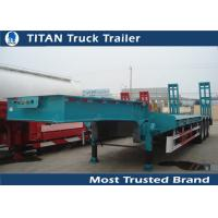 China 50 Tons low loader 3 axle drop deck Low Bed Trailer for vessels , boats , combine harvesters wholesale