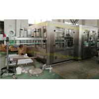 China Rising / Capping Water Bottle Filling Machine 3 In 1 Monoblock Type 40 Filling Nozzles wholesale