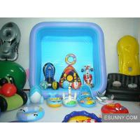 China Blue Synchronized Floating Inflatable Swim Ring , swimming floats for children wholesale