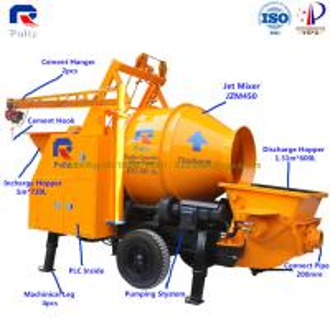China concrete pump output 30m3/h, mini small concrete pump India, stable working property small portable concrete mixer pump wholesale