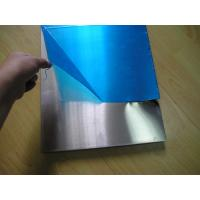 China Coverd Surface Alloy Precision Aluminum Plate / Sheet With Blue PVC Film Available wholesale