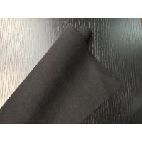 Quality Black Warm Soft Woven Wool Fabric ployster / Wool Upholstery Fabric for sale