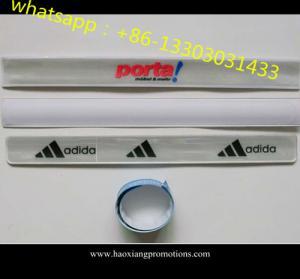 China good quality Promotion Hot sale ! LED reflective wristband led reflective slap bands wholesale